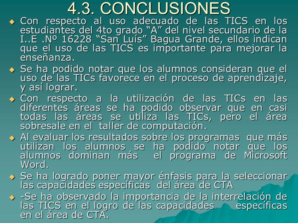 4.3. CONCLUSIONES