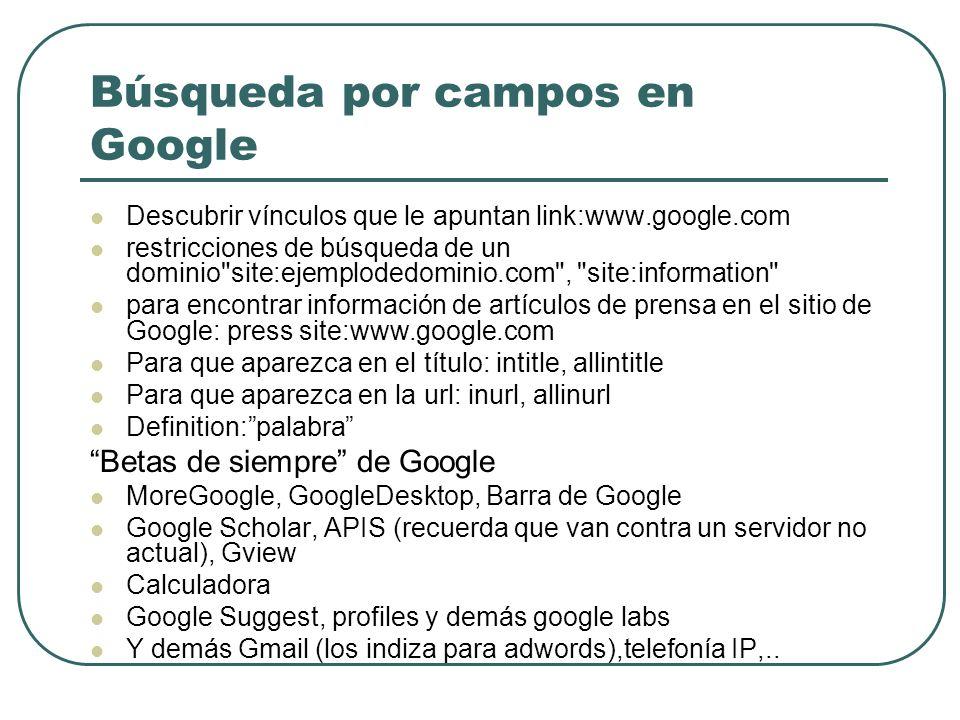 Búsqueda por campos en Google