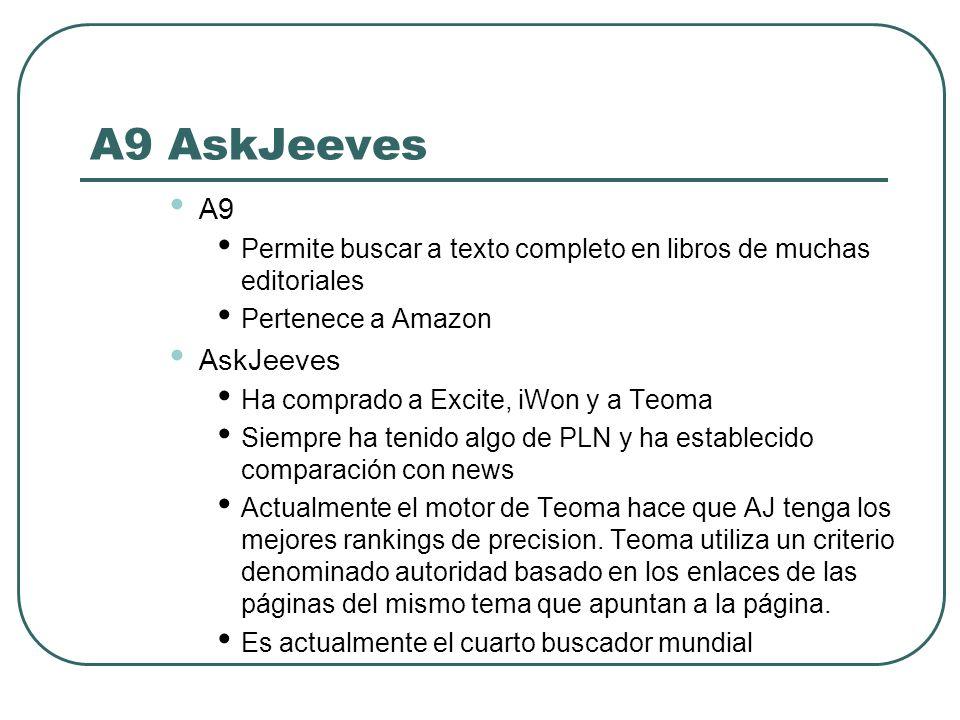 A9 AskJeeves A9 AskJeeves