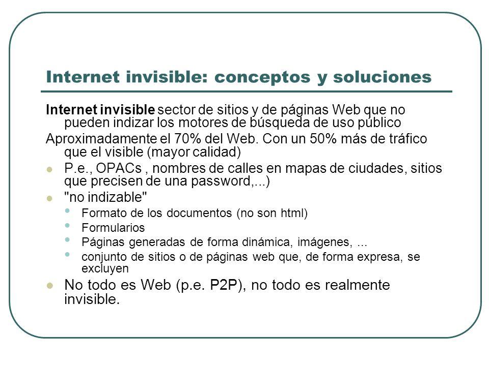 Internet invisible: conceptos y soluciones