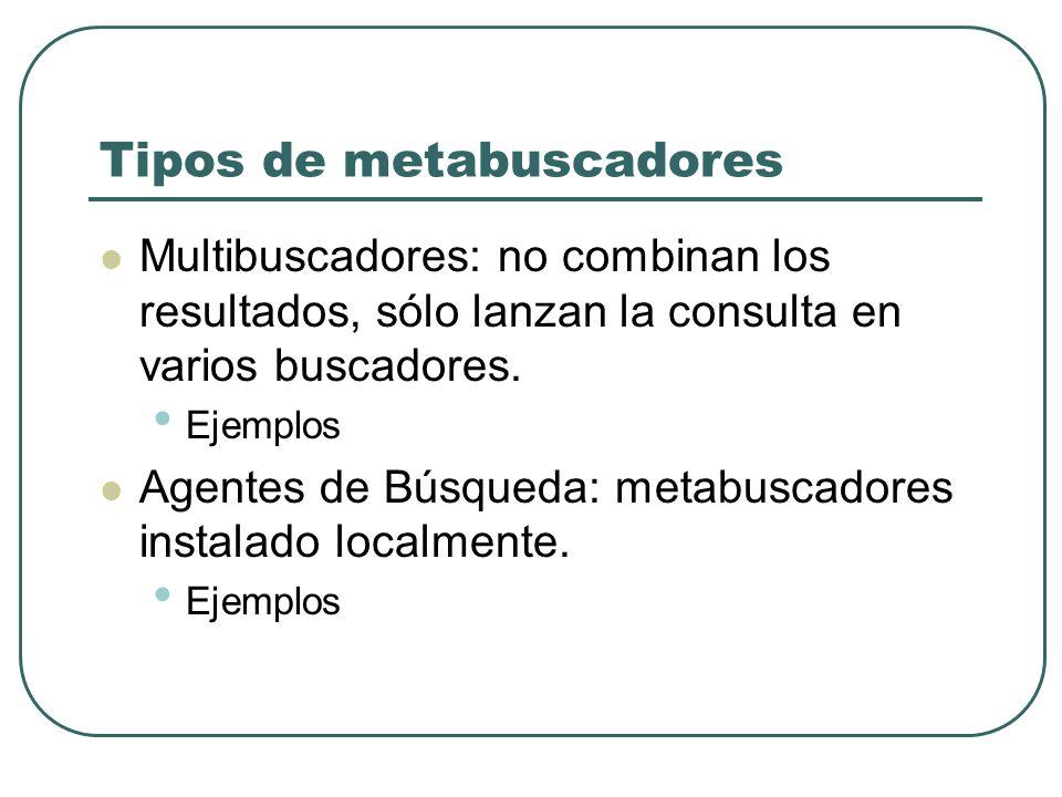 Tipos de metabuscadores