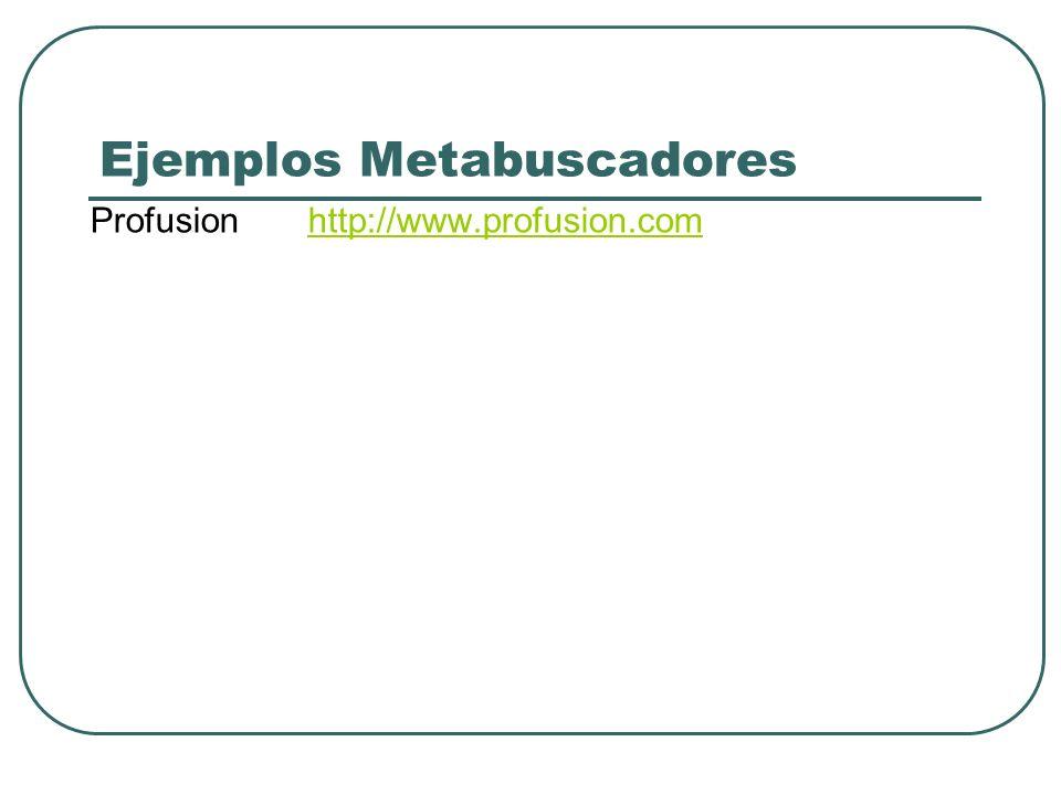 Ejemplos Metabuscadores