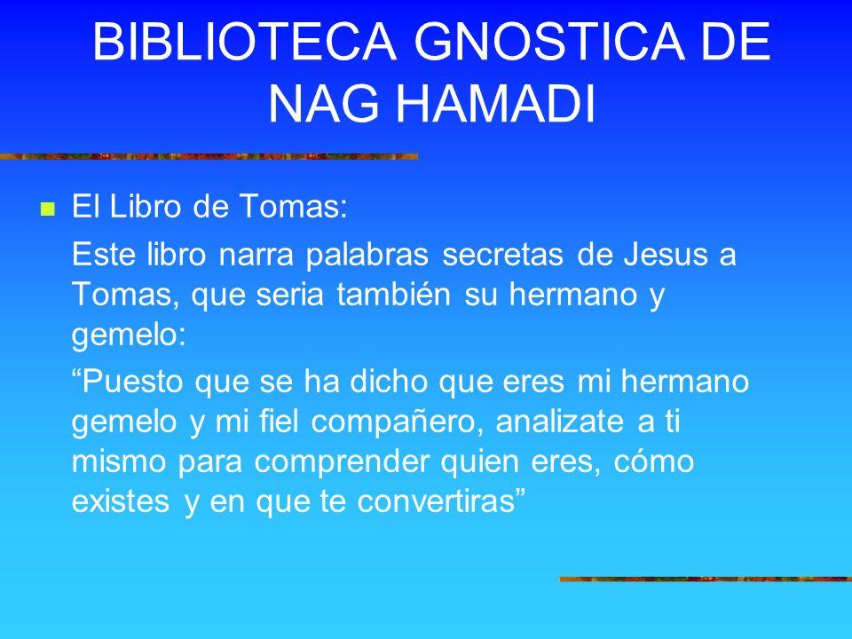 BIBLIOTECA GNOSTICA DE NAG HAMADI