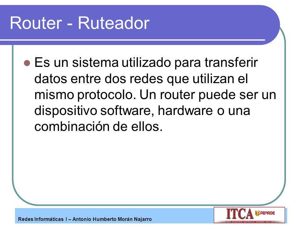 Router - Ruteador