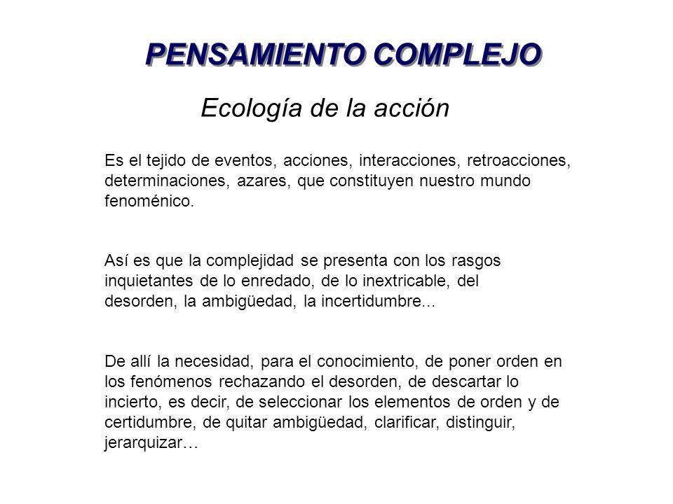 PENSAMIENTO COMPLEJO Ecología de la acción