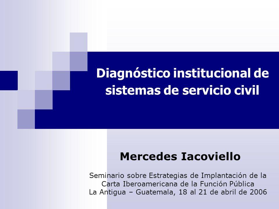 Diagnóstico institucional de sistemas de servicio civil