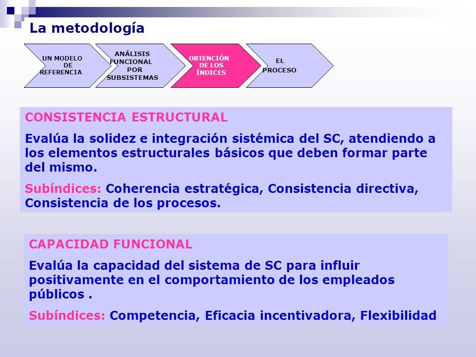 La metodología CONSISTENCIA ESTRUCTURAL