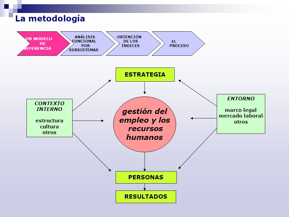 La metodología gestión del empleo y los recursos humanos ESTRATEGIA