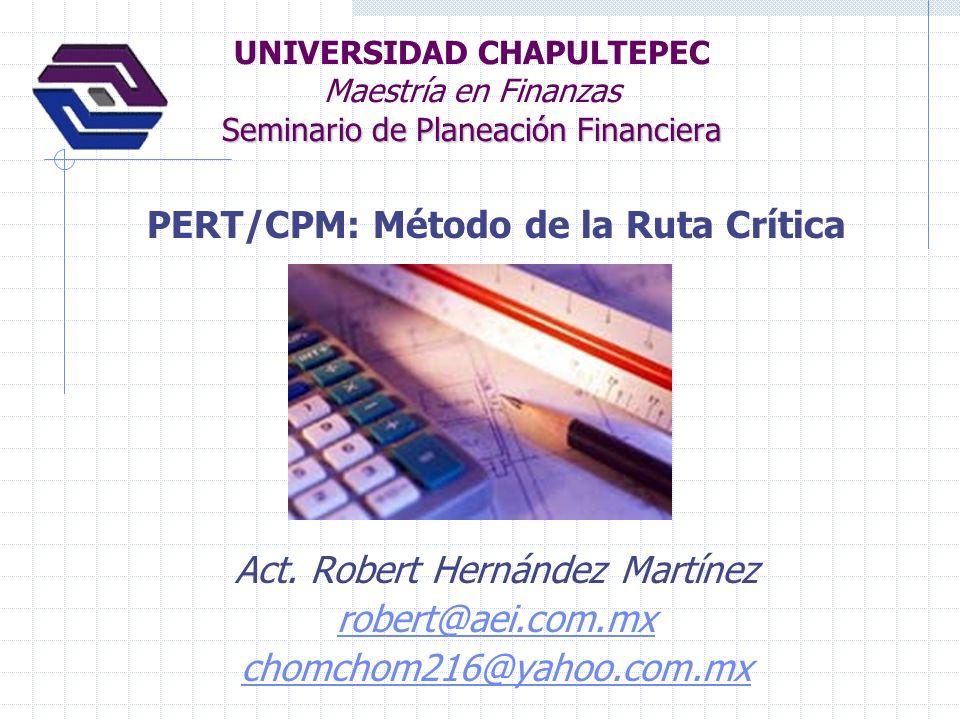 PERT/CPM: Método de la Ruta Crítica