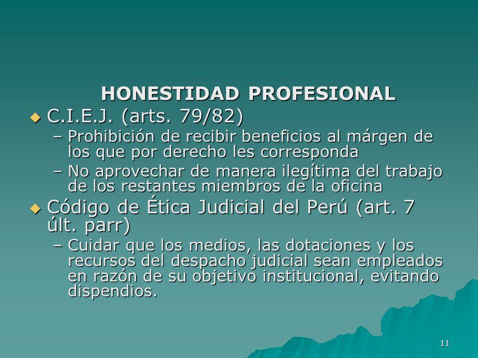 HONESTIDAD PROFESIONAL