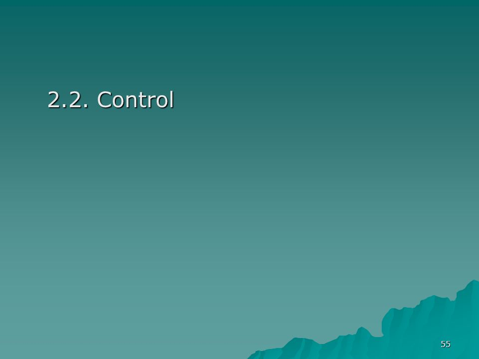 2.2. Control