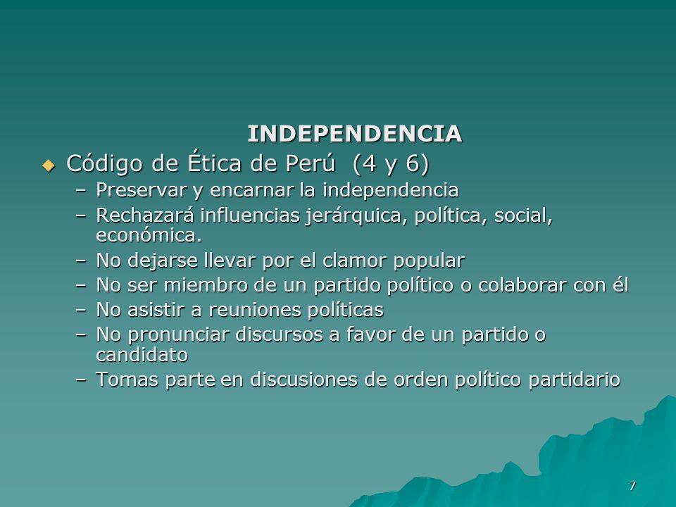 Código de Ética de Perú (4 y 6)