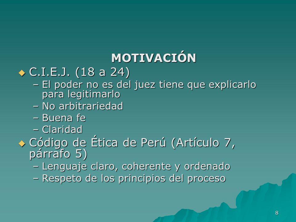 Código de Ética de Perú (Artículo 7, párrafo 5)