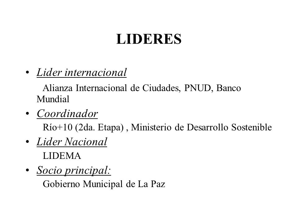 LIDERES Lider internacional