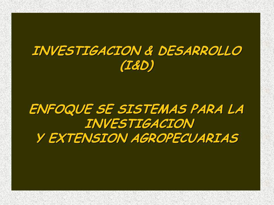 INVESTIGACION & DESARROLLO (I&D) ENFOQUE SE SISTEMAS PARA LA