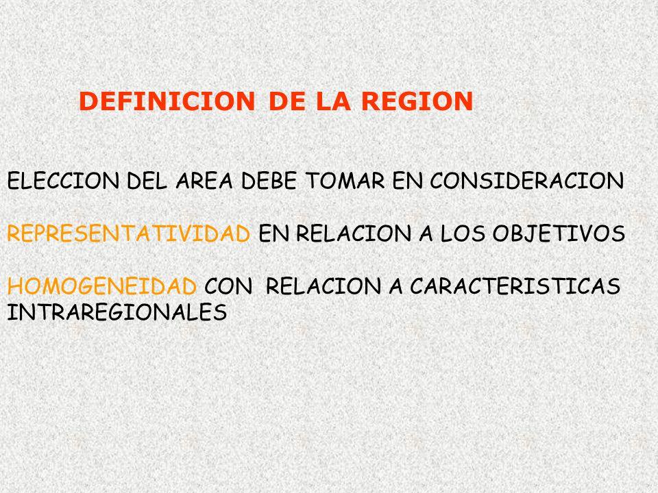 DEFINICION DE LA REGION