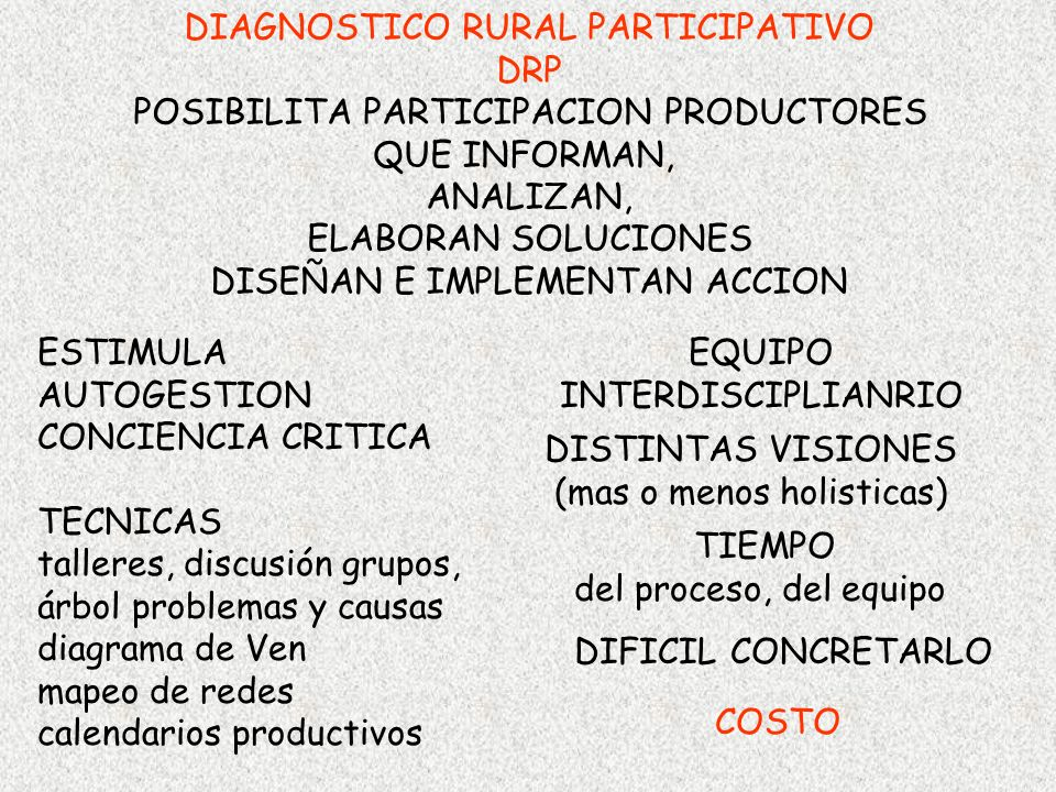 DIAGNOSTICO RURAL PARTICIPATIVO DRP