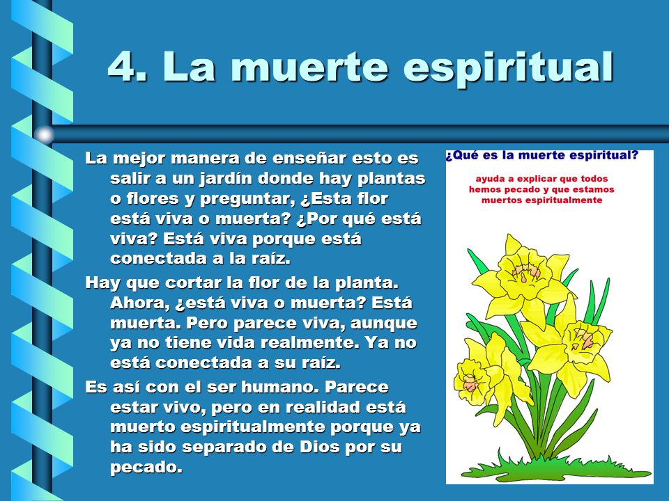 4. La muerte espiritual