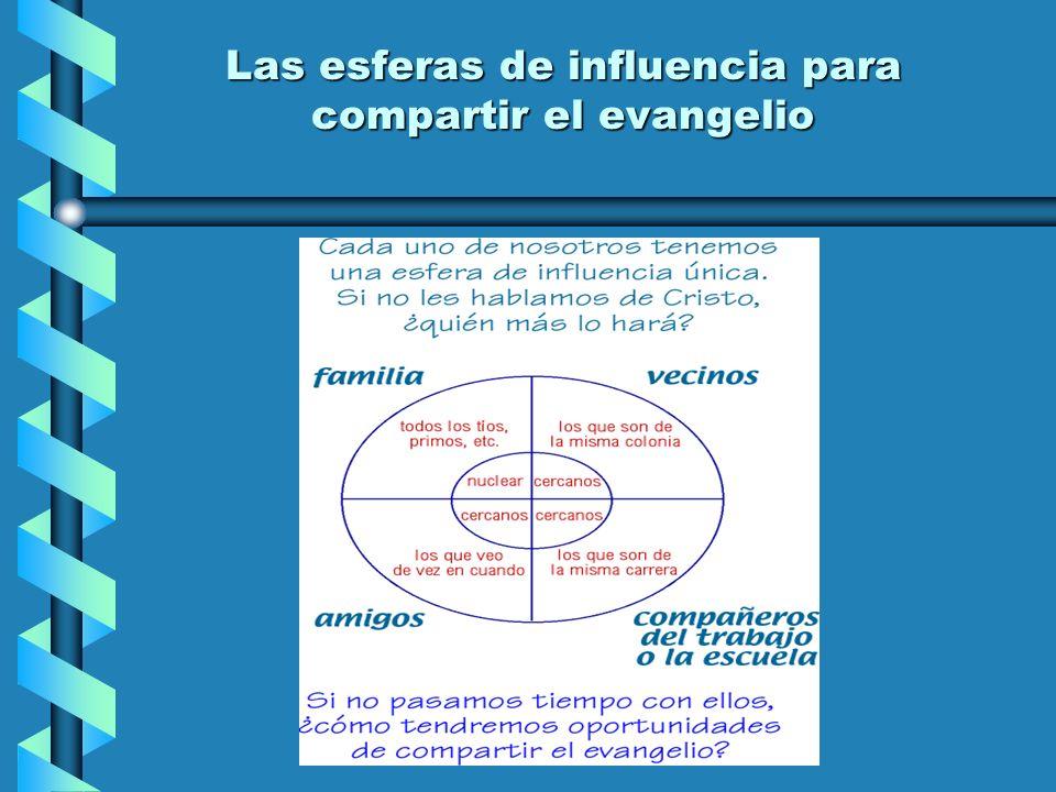 Las esferas de influencia para compartir el evangelio