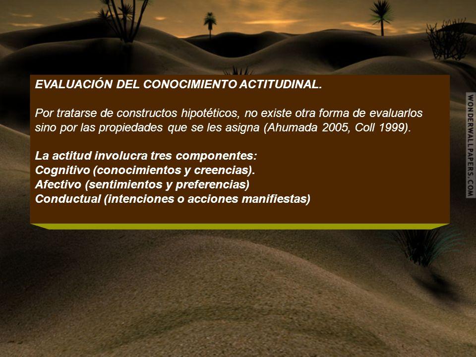 EVALUACIÓN DEL CONOCIMIENTO ACTITUDINAL.