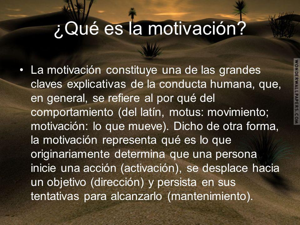 ¿Qué es la motivación