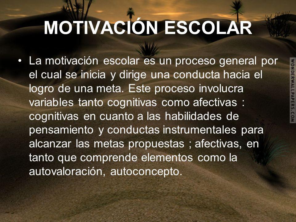 MOTIVACIÓN ESCOLAR
