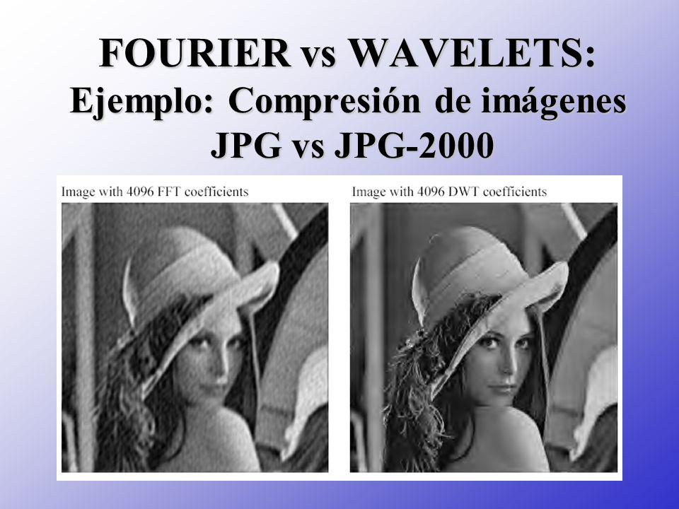 FOURIER vs WAVELETS: Ejemplo: Compresión de imágenes JPG vs JPG-2000