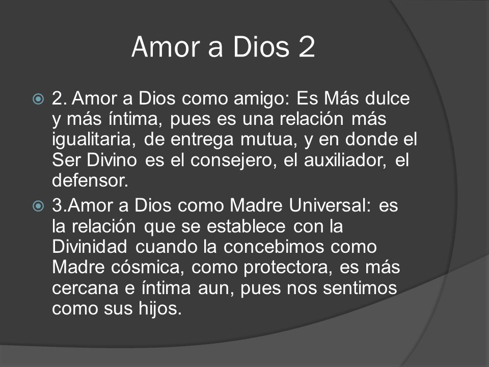 Amor a Dios 2