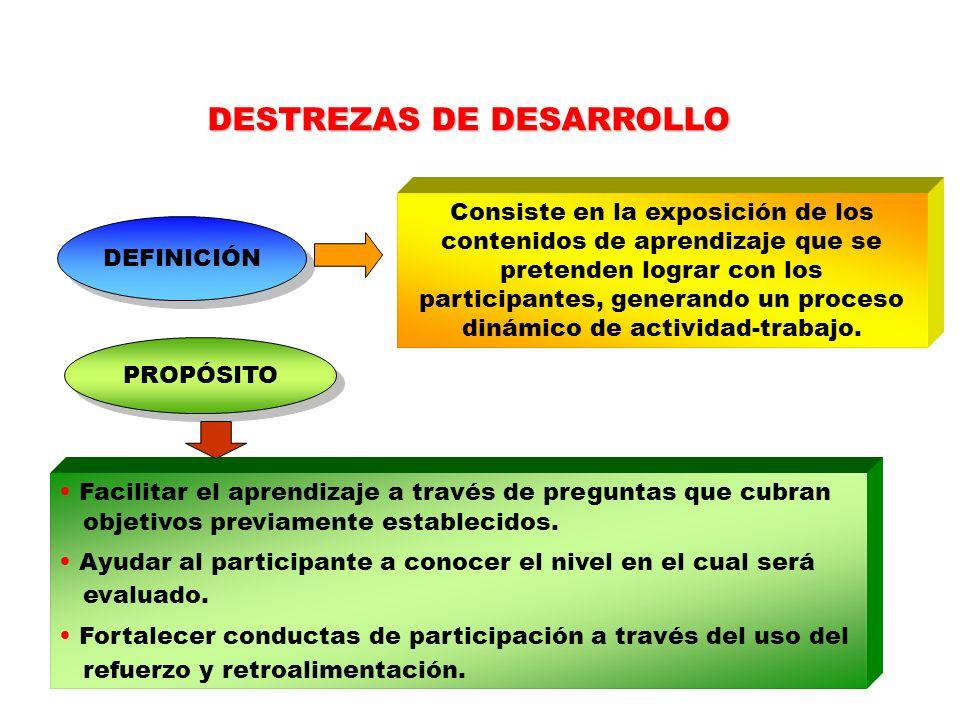DESTREZAS DE DESARROLLO