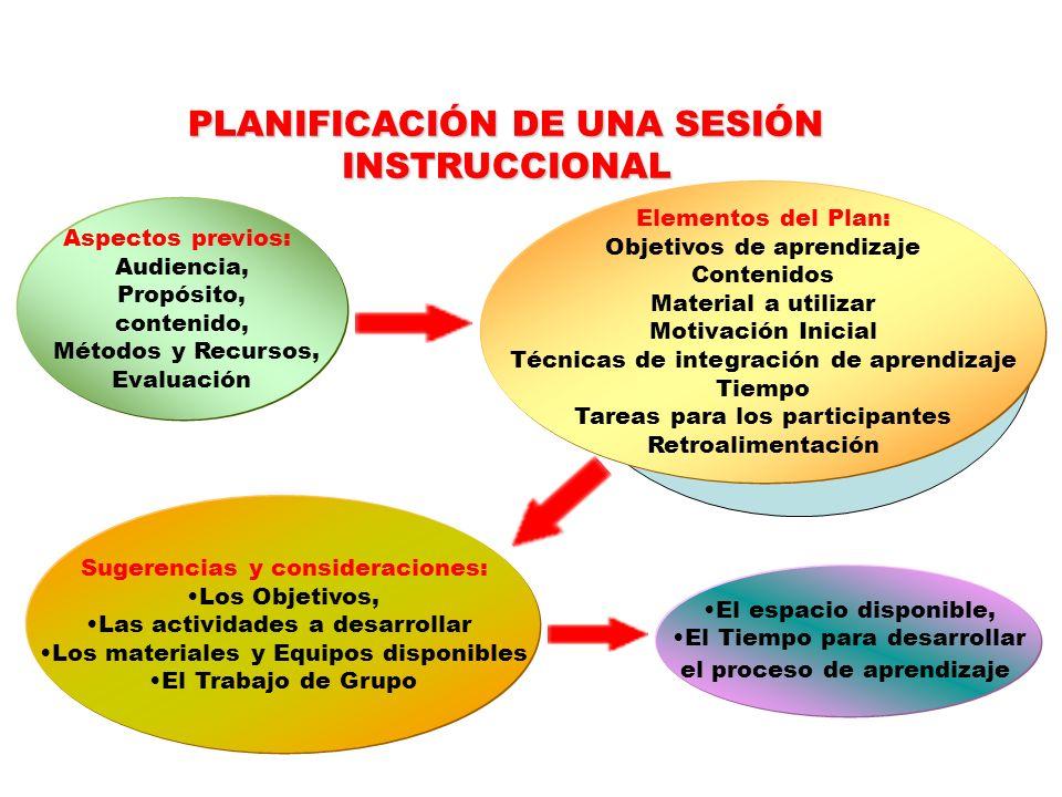 PLANIFICACIÓN DE UNA SESIÓN INSTRUCCIONAL