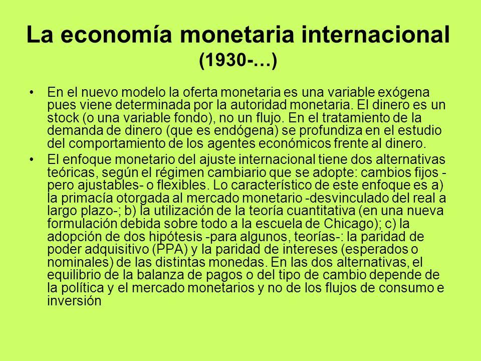 La economía monetaria internacional (1930-…)