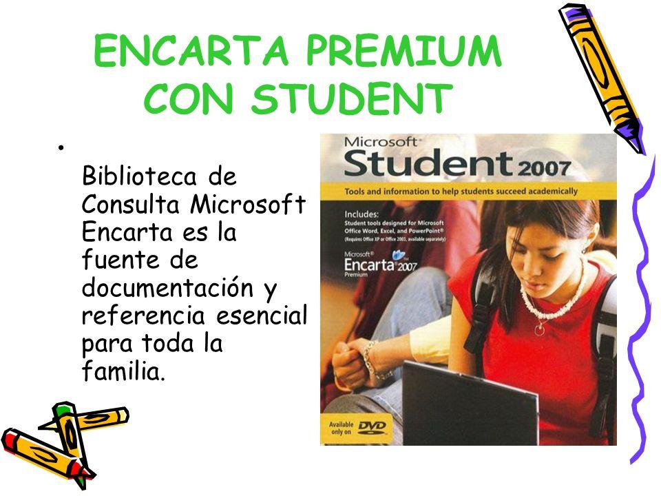 ENCARTA PREMIUM CON STUDENT