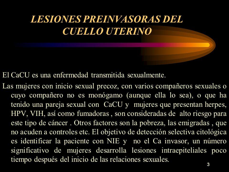 LESIONES PREINVASORAS DEL CUELLO UTERINO