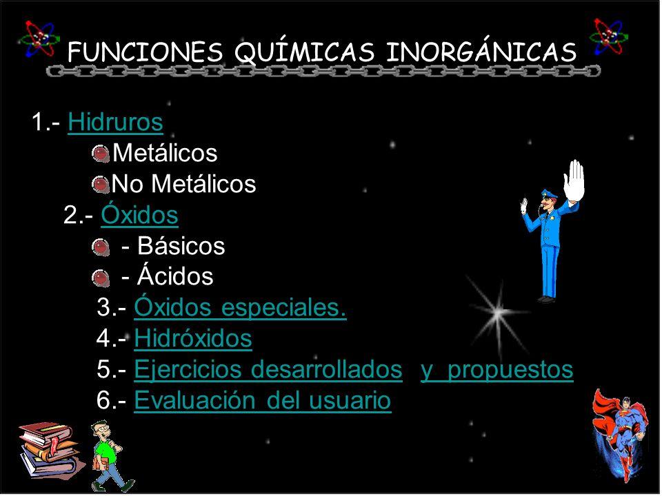 FUNCIONES QUÍMICAS INORGÁNICAS