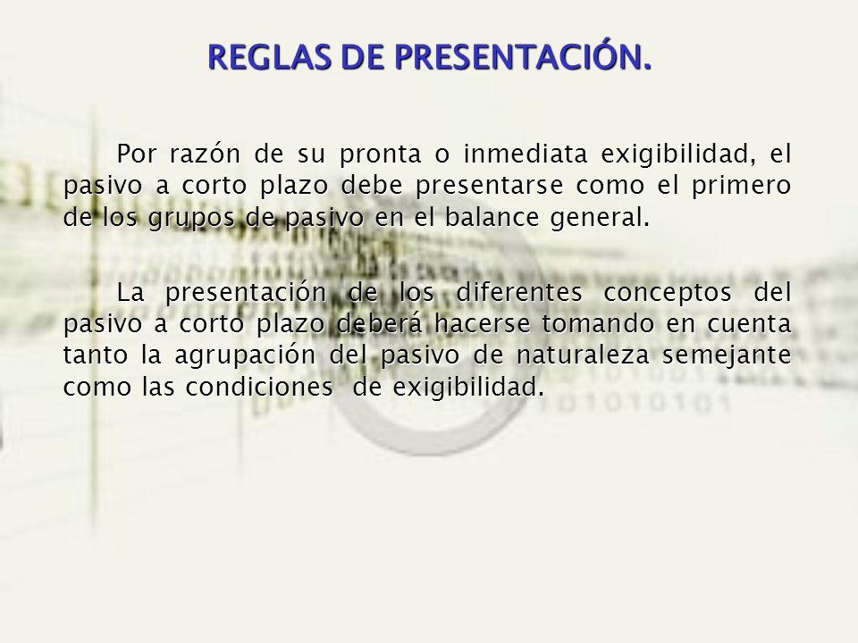 REGLAS DE PRESENTACIÓN.