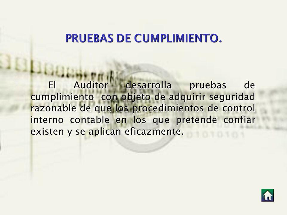 PRUEBAS DE CUMPLIMIENTO.