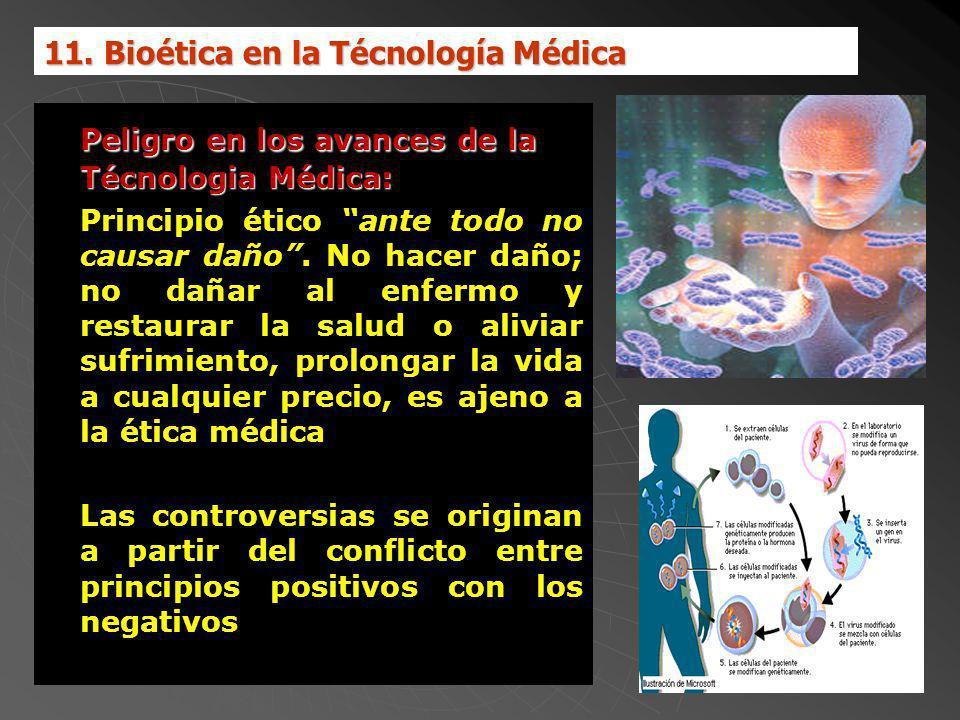 Peligro en los avances de la Técnologia Médica: