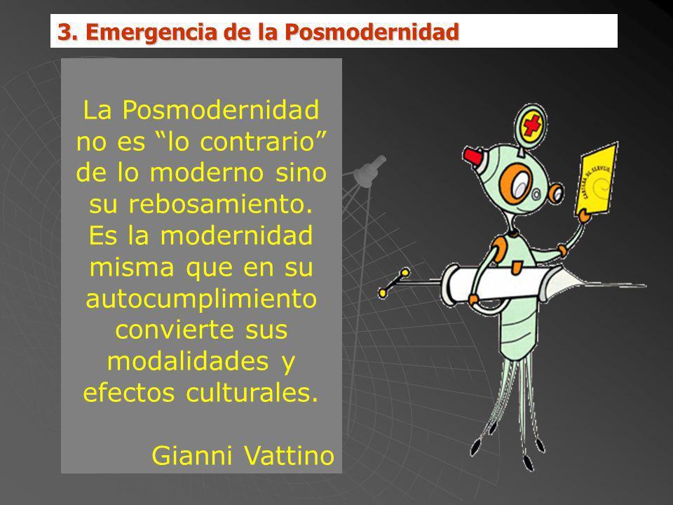 3. Emergencia de la Posmodernidad