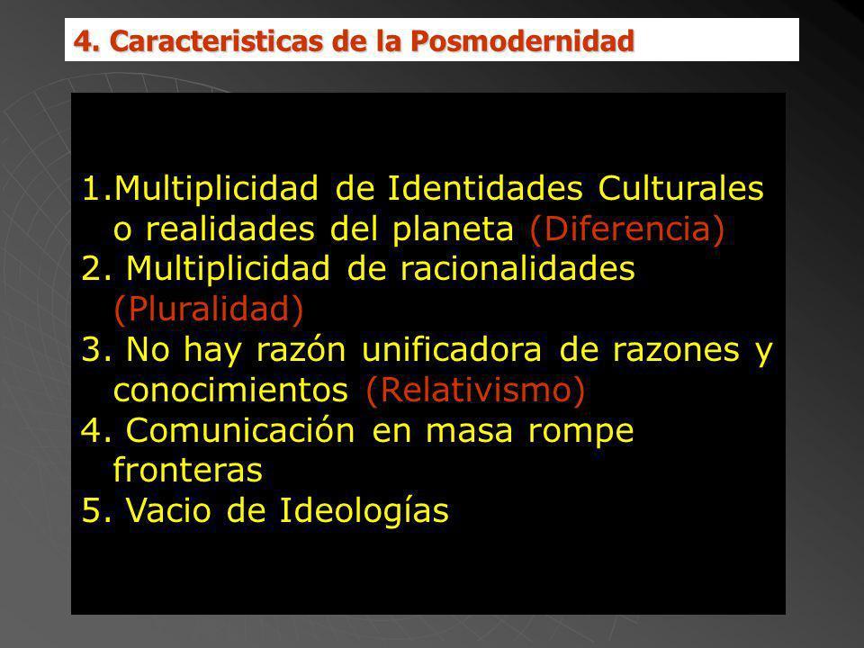 Multiplicidad de racionalidades (Pluralidad)