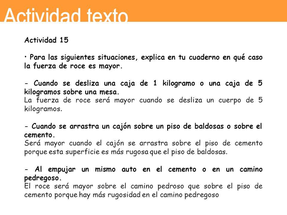 Actividad texto Actividad 15