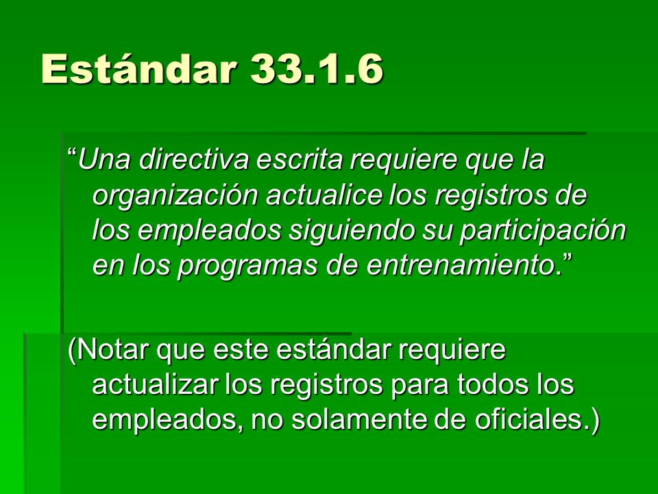 Estándar 33.1.6