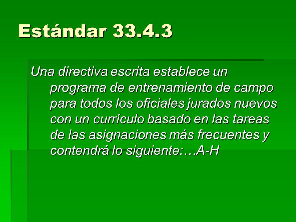 Estándar 33.4.3