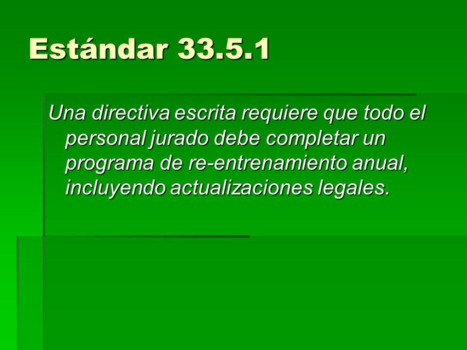 Estándar 33.5.1