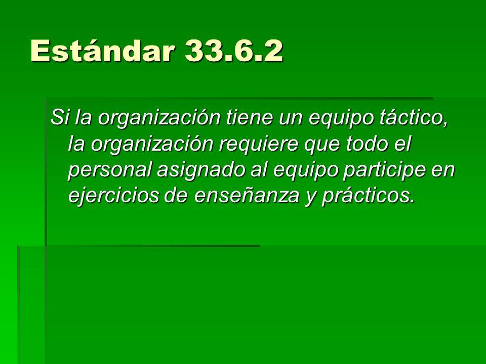 Estándar 33.6.2