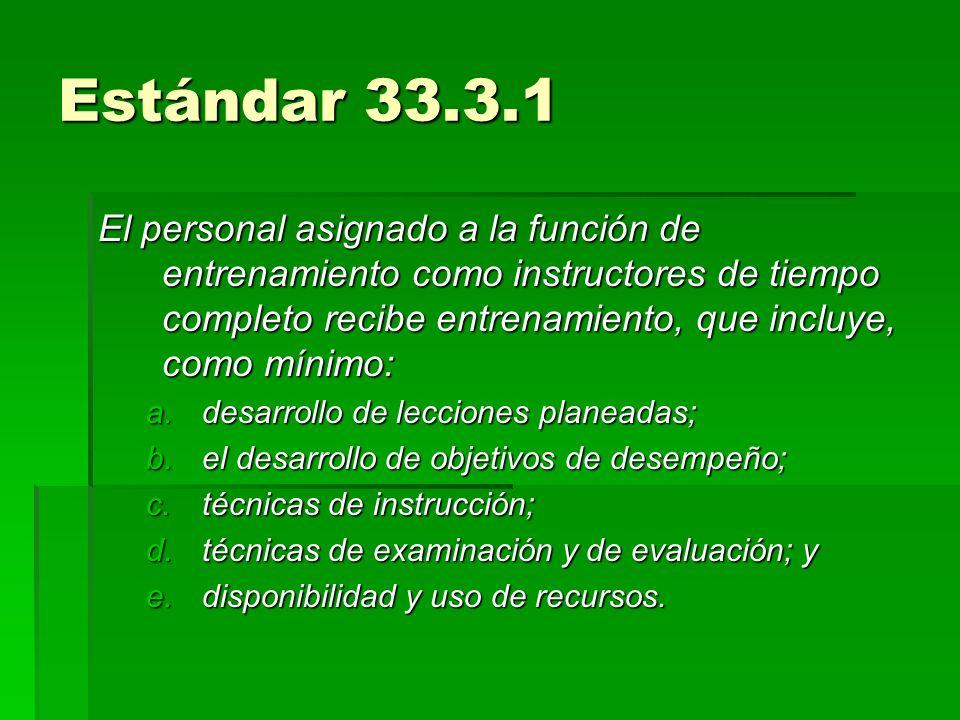 Estándar 33.3.1