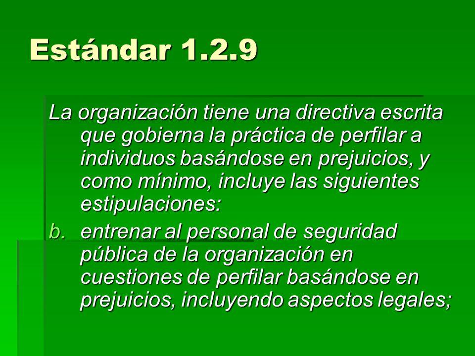 Estándar 1.2.9