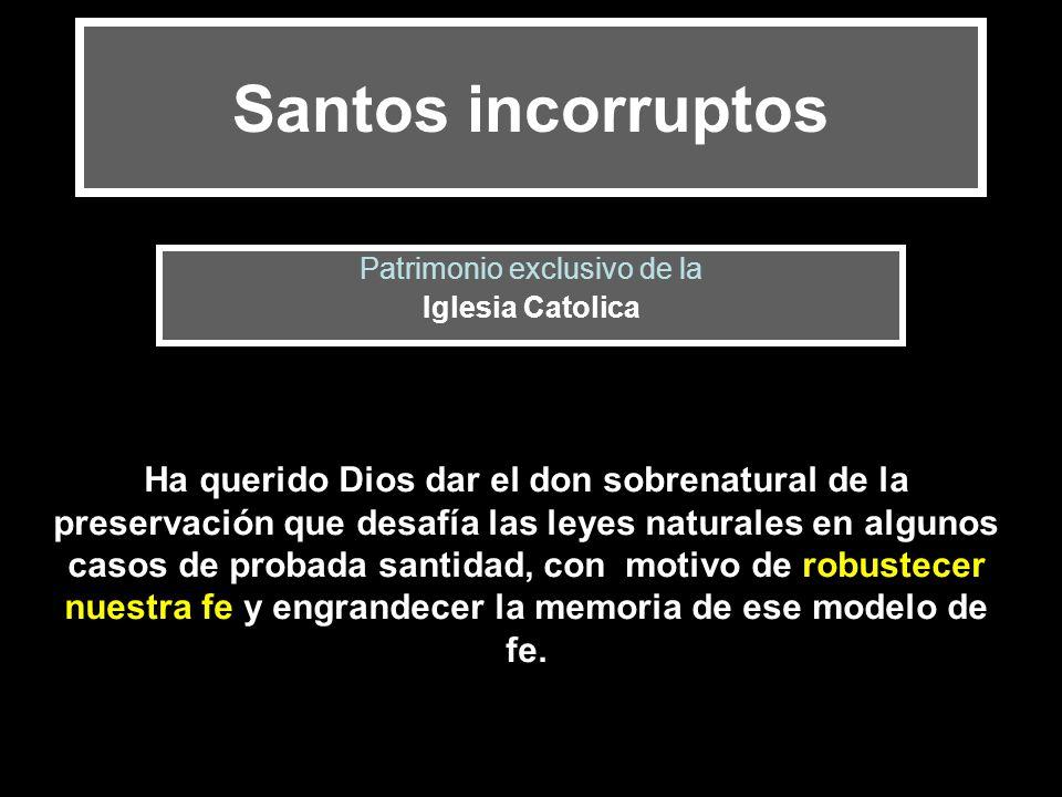 Patrimonio exclusivo de la Iglesia Catolica