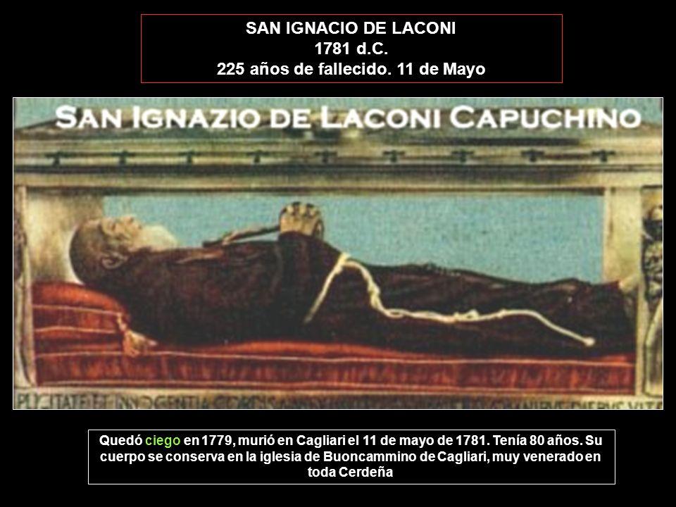 225 años de fallecido. 11 de Mayo