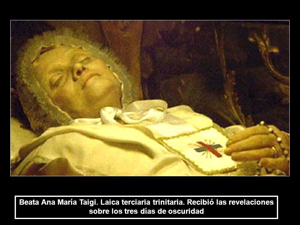 Beata Ana María Taigi. Laica terciaria trinitaria