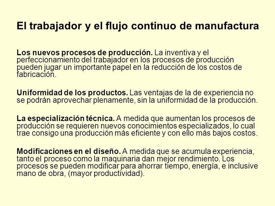 El trabajador y el flujo continuo de manufactura